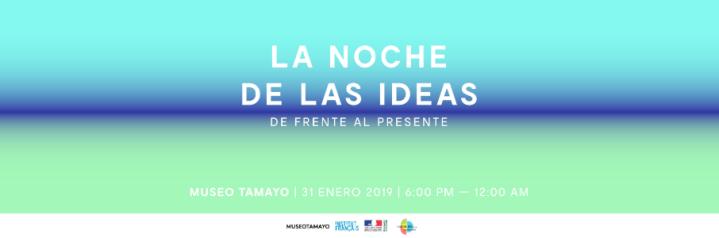 CDMX: Programación de La Noche de las Ideas2019