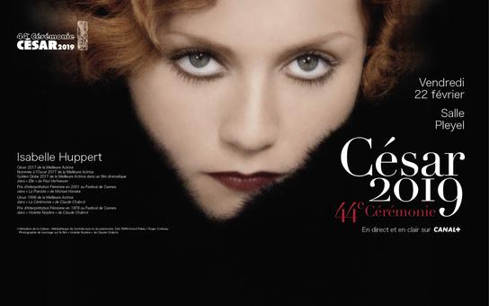 Conoce el afiche de los César 2019, con Isabelle Huppert comoprotagonista