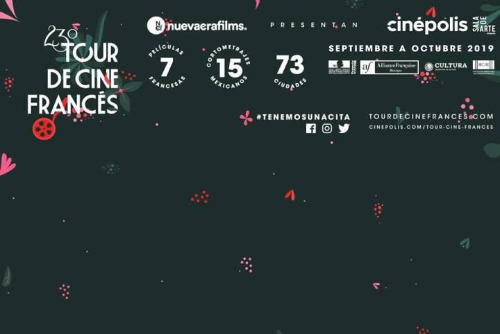 Cine francés en México: aquí está el póster oficial del 23º Tour de CineFrancés