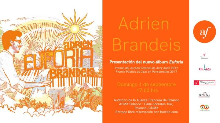 Adrien Brandeis Trio se presenta enCDMX