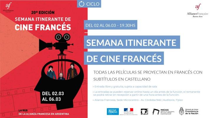 Cine francés en Argentina | Conoce la programación de la 20ª SemanaItinerante